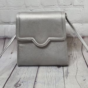 Vintage 80's Metallic Silver Structured Purse